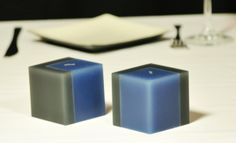 Handmade candles with cubic shape Modern Candles, Handmade Candles, Shapes, Homemade Candles