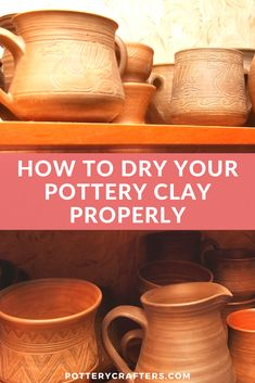 How To Dry Your Pottery Clay Properly - - What if an air pocket gets trapped in your clay and you don't know it? Will the kiln get damaged? Will the pottery crack or break? These are important questions. Raku Pottery, Slab Pottery, Ceramic Tools, Ceramic Art, Clay Crafts For Kids, Sculpture Clay, Ceramic Sculptures, Pottery Lessons, Handmade Pottery