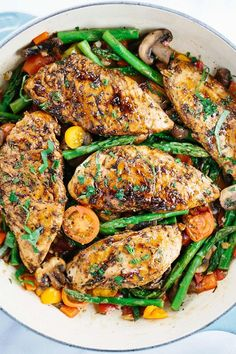 Balsamic Chicken with Orange Glaze Sauce @FoodBlogs