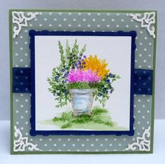 Potted Flowers by breadbaker - Cards and Paper Crafts at Splitcoaststampers