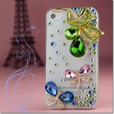 Get the Most Stylish and Cool Apple #iPhone 4 iPhone 4S Hard Cover #Case - 3D Butterflies With Full #Rhinestones Shipped Free at from #Acetag
