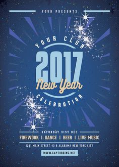 New YearS Party Flyer Template Click To Customize  New Year