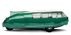 El automóvil Dymaxion diseñado por Fuller en 1933, reconstruido por Norman Foster - Fotografía: Gregory Gibbons.