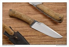 Little fighter- D2 and hornbeam burl | Mozolič Knives