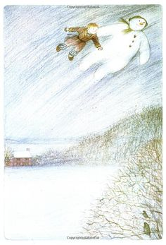 "Raymond Briggs, ""The Snowman"" my family's go to Xmas movie. Christmas Drawing, Christmas Love, Winter Christmas, All Things Christmas, Children's Book Illustration, Book Illustrations, Raymond Briggs, Christmas Movie Quotes, Winter Love"