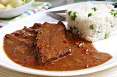 Recept : Katův šleh II. | ReceptyOnLine.cz - kuchařka, recepty a inspirace Cooking Recipes, Healthy Recipes, Food And Drink, Rice, Beef, Czech Food, Chef Recipes, Cooking, Meat