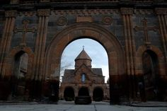 St. Gayane church. In the 7th century, Vagharshapat, Armenia.