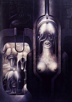 Hans Rüdi Giger: Phallelujah  #giger #hrgiger #alien #xenomorph #biomechanoid