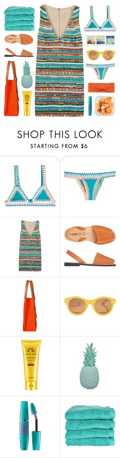 """take me away"" by rosemarykate ❤ liked on Polyvore featuring kiini, Alice + Olivia, Toast, Hermès, Lucy Folk, Ananas, Maybelline, Home Source International and Portolano"