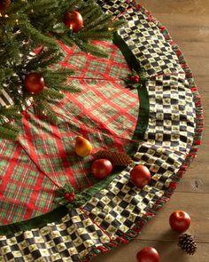 I love this tree skirt but way $$$! Holiday Tartan Christmas Tree Skirt by MacKenzie-Childs at Neiman Marcus.