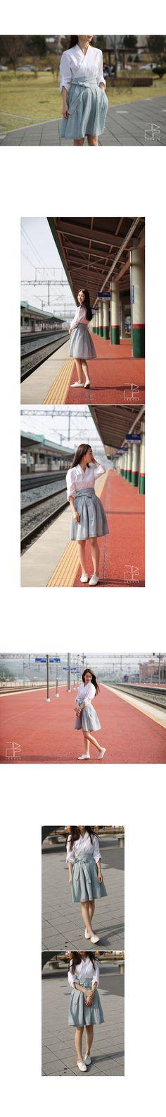 버튼 허리치마 ~ Button Waist Skirt ~ Brand Leesle