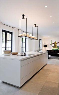 New Kitchen Floor Tile Natural Ideas Modern Flooring, Stone Flooring, Kitchen Flooring, Flooring Ideas, Travertine Floors, Vinyl Flooring, Kitchen Interior, New Kitchen, Cheap Kitchen