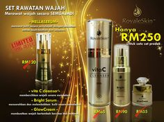 One set complete skincare by Royaleskin RM250.00