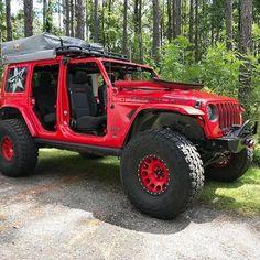 Jeep Wrangler Rims, Wrangler Jl, Jeep Rubicon, Jeep Wranglers, Red Jeep, Jeep Jl, Jeep Truck, Jeep Camping, Custom Jeep