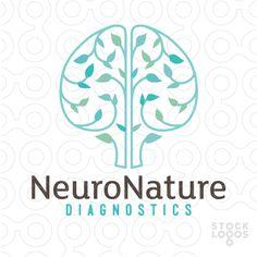 Neuron Nature logo by NancyCarterDesign