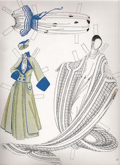 Erté Fashion Paper Dolls | Gabi's Paper Dolls