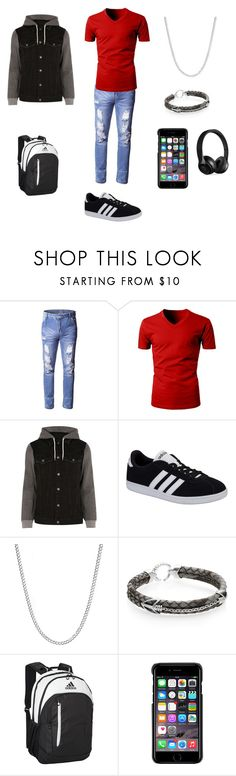 """""""Sans titre #135"""" by gwentommo on Polyvore featuring River Island, adidas NEO, StingHD, adidas, County Of Milan, Beats by Dr. Dre, men's fashion et menswear"""
