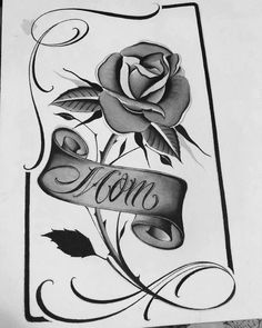Tattoo Lettering Styles, Chicano Lettering, Bow Tattoo Designs, Floral Tattoo Design, Graffiti Tattoo, Tattoo Sketches, Tattoo Drawings, Tattoo Art, Pencil Drawings