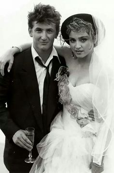Madonna weds Sean. For more popular and rare photos of Madonna, enjoy RushWorld board, WOMEN WHO ROCK DEBBIE HARRY JOAN JETT AND MADONNA. While you're here, check out our boards, WTF FASHIONS, HAT FASCINATOR OR DUMBFOUNDER?, and WELCOME TO HELL HERE ARE YOUR SHOES. See you at RushWorld!
