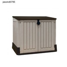 Rubbish Bins Garden Shed Waterproof Storage Plastic Litter Bin Keter Woodland