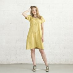 Passover Special Sale Spring Cotton Dress - Yellow on Etsy, $112.00