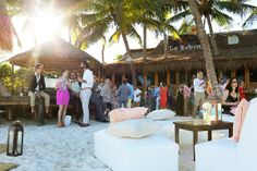 Beach wedding at @L a Zebra, Tulum fabulous venue for an intimate and cozy affair.  Mexico wedding photographers Del Sol Photography