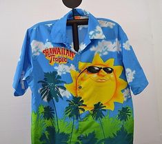 9272f2f44 Hawaiian Tropic Hawaiian Shirt L 100% rayon short sleeve multi-color  #HawaiianTropic #