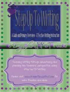 2nd Grade Writing Activities on Pinterest | Step up, Sentences and ...
