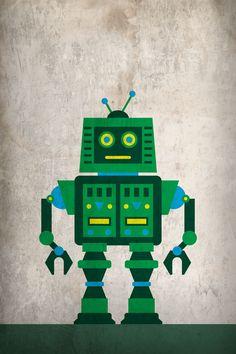 Minimal Robot Poster by JWC Design