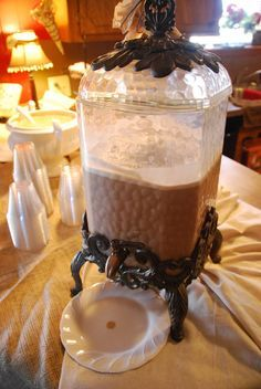 Mocha Punch- Mocha Punch: Brewed Coffee (1/2 gallon) - 64 oz, Sugar (1 cup), Milk (1/2 gallon), Chocolate ice cream (1/2 gallon)