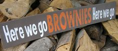Cleveland Browns sign. $20.00, via Etsy. This is a sign from my easy shop