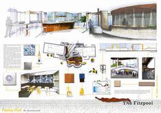 presentation of elevations showing vertical passage designer rh pinterest com