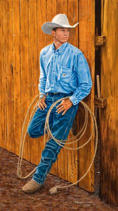 <p>This is my good friend Dustin Roush from Gillette, Wyoming. Dustin posed for Leigh and I in July of 2006 at the DC Bar Guest Ranch, my friend's ranch in Pinedale, Wyoming. Dustin and his family operate a very large…</p>