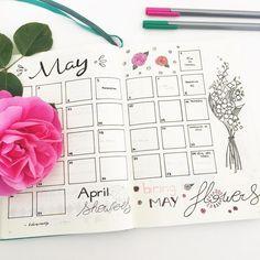 Page mensuelle : Mai ✒ Retrouvez toutes les photos de mon #bulletjournal sur Pinterest ou Instagram @lesoucidudetail