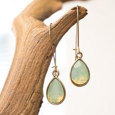 Lange oorbellen Swarvski Crystal Pacific Opal Druppel Dooor Jewelry