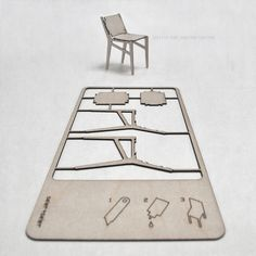 Pop out chair: CNC Laser cut