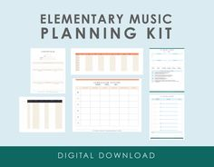 Elementary Music Planning Kit — We Are the Music Makers Elementary Music Lessons, Singing Lessons, Singing Tips, Piano Lessons, Upper Elementary, Elementary Schools, Teaching Music, Learning Piano, Kindergarten Music