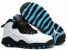 3e31eb4947e2bb Authentic Womens Air Jordan 10 Powder Blue White Dark Powder Blue Black  310805 106 For Sale