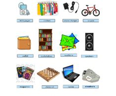 Things We Have in Our Rooms (Vocabulary)