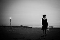 Tribute to Bergman. (Yu-Hong Kuo) Tags: portrait sky woman lighthouse white black girl beauty asian asians desert wreaths oillamps