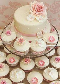 pasteles de boda con cupcakes - Buscar con Google