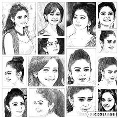 Pencil sketch of Rakul Preet Singh... South Indian Actress