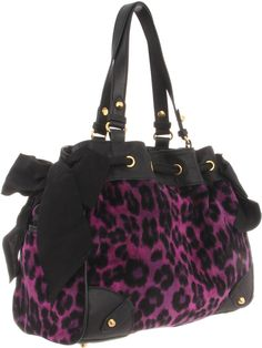 Juicy Couture Daydreamer Yhru3129 Shoulder Bag Camel Leopard One Size 84
