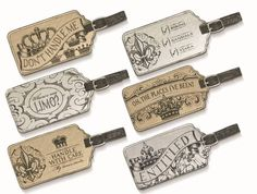 """Your luggage never looked so good! Our new She Rules Crown Luggage Tags are perfect for pageants, vacations, or party favors! Measuring 2 3/4″ x 5″; choose from 6 different gold/silver designs:""""Bikini; Sandals; Tiara"""" """"Where's my Limo?"""", """"Entitled"""". 3 Styles SOLD OUT: """"Don't Handle Me"""",""""Oh the places I've been!"""",""""Handle with Care (my tiara's inside)"""" - SOLD OUT  SKU:GR463073"""
