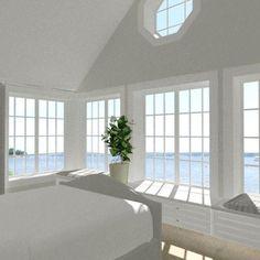 New England Hus - Förslag 5 - interiör - Master bedroom 2 New England Hus, New England Bedroom, New England Style, Cozy House, Newport, Master Bedroom, New Homes, Home And Garden, House Design