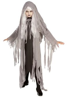 Child Midnight Ghost (Large)- Click image twice for more info - See a larger selection of wigs at http://costumeriver.com/product-category/wigs/- Halloween, events, holiday , halloween ideas, artificial hair, scary wigs, funny wigs, gift ideas