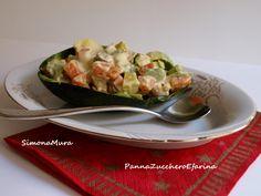 Insalata Russa con avocado e gamberetti