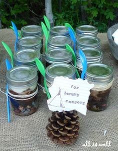 For future Girl Scout/boy scout adventures! You could make these with s'more kit, bird feeder kit, potpourri kit, anything!!