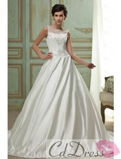 Sumptuous Embroidery Wedding Dress
