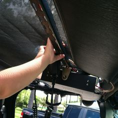 Install cb radio overhead mount for jeep TJ